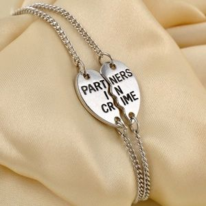 Jewelry - Silver partners in crime bracelet set